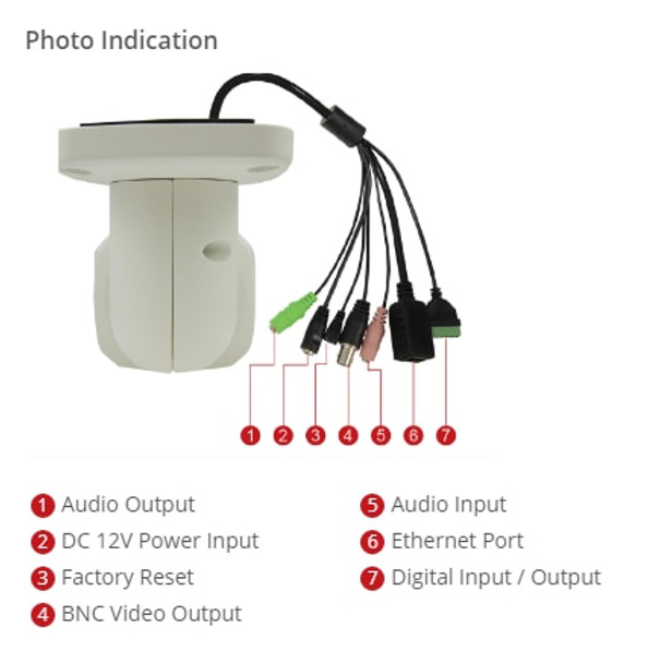 ACTi A44 12MP IR H.265 4K Outdoor Bullet IP Security Camera with Face, People and Car Detection
