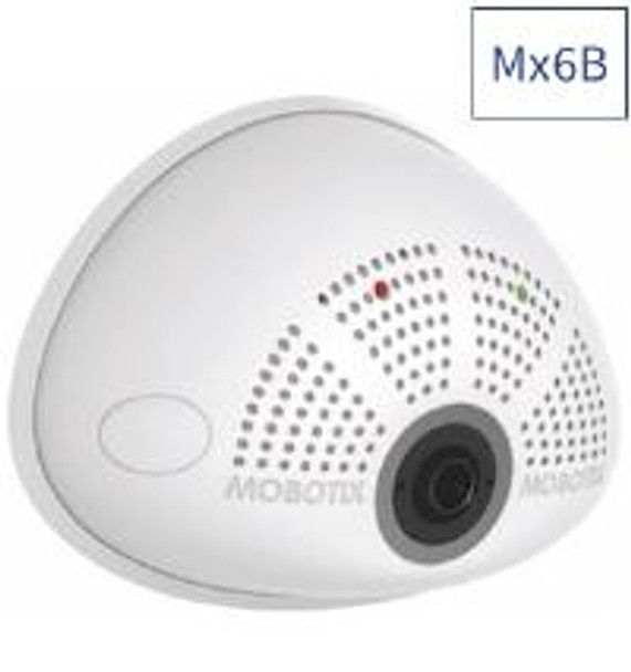 Mobotix Mx-i26B-AU-6D016 6MP i26B Indoor IP Security Camera with B016 Day Sensor and Audio Package