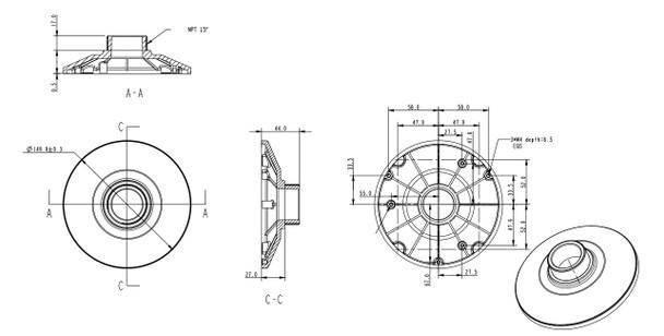Arecont Vision CF-CAP-W Mounting Cap for ConteraIP Fisheye Camera