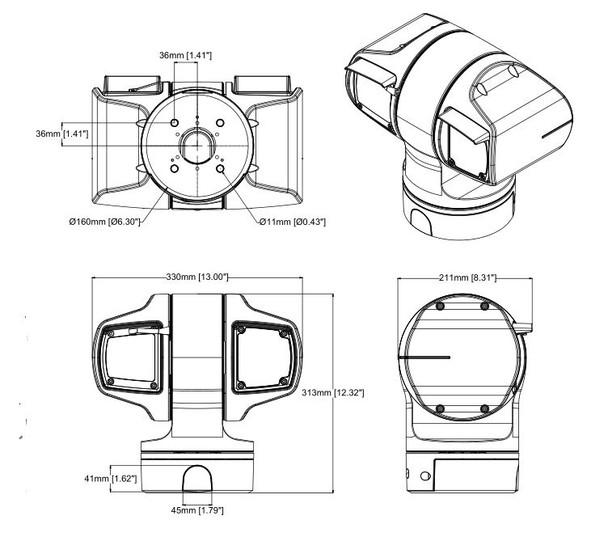 AXIS Q6215-LE 60 Hz 2MP Heavy-duty PTZ IP Security Camera with OptimizedIR - 01442-004