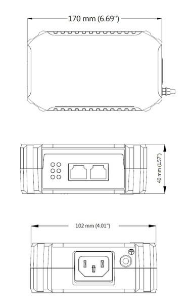 Geovision GV-PA902BT 1 Port Gigabit PoE Adapter