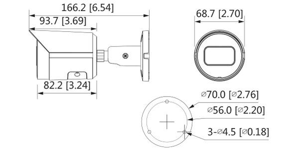 Dahua N42BD32 4MP H.265+ IR Starlight Arctic Bullet IP Security Camera with 2.8mm Fixed Lens