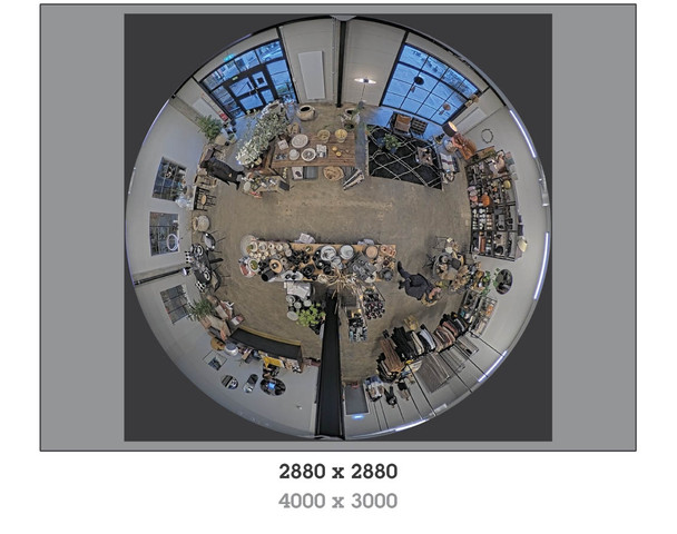 AXIS M3068-P 12MP H.265 Indoor Mini Dome IP Security Camera with 360-degree Panoramic view - 01732-001