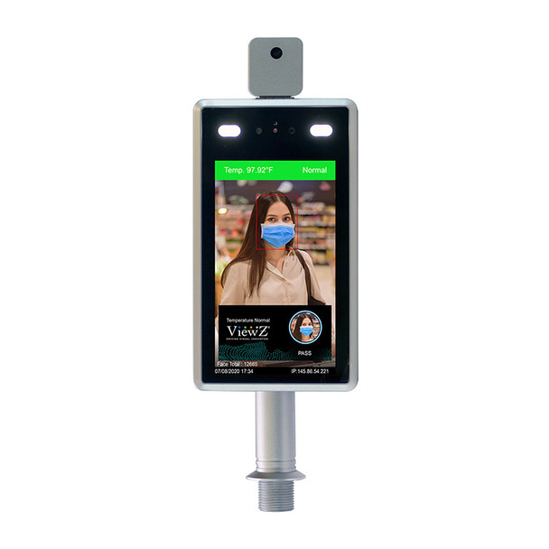 """ViewZ VZ-7TIM-S 7"""" HD Thermal Face Recognition & Temperature Measurement Monitor"""