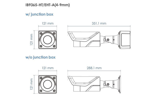 Vivotek IB9365-EHT-A 2MP IR H.265 Arctic Bullet IP Security Camera with WDR Pro, 60 fps