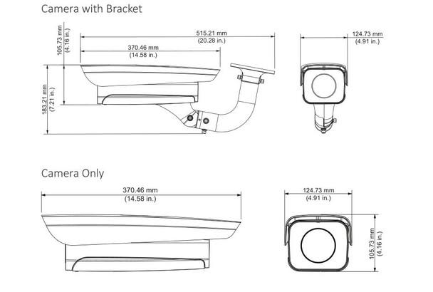 Dahua ITC237-PW6M-IRLZF1050-B 2MP LPC Entrance/Exit IP Security Camera with Bracket (Long Lens)
