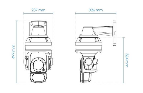Vivotek SD9364-EHL-V2 2MP IR H.265 Outdoor PTZ IP Security Camera with 30x Optical Zoom
