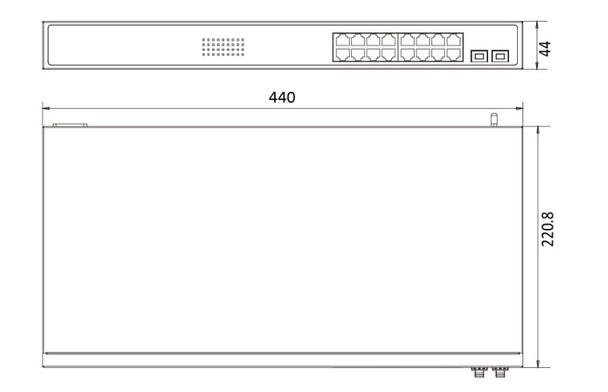 Hikvision DS-3E0518P-E 16-Port Gigabit Unmanaged PoE Switch