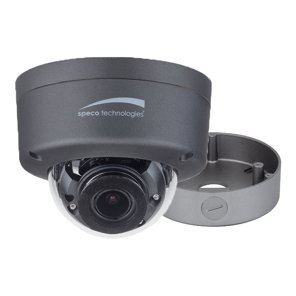 Speco HFD4M 4MP Dome HD-TVI Security Camera with Junction Box and Motorized Lens