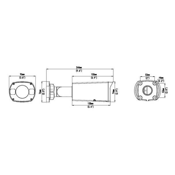 Geovision GV-TBL4711 4MP IR H.265 Outdoor Bullet IP Security Camera, 2.8~12mm Motorized Lens