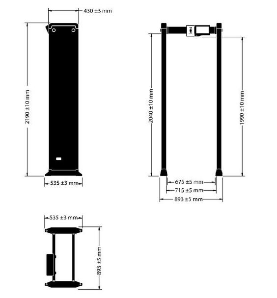 Hikvision ISD-SMG318LT-D Temperature Measurement Walkthrough Metal Detector