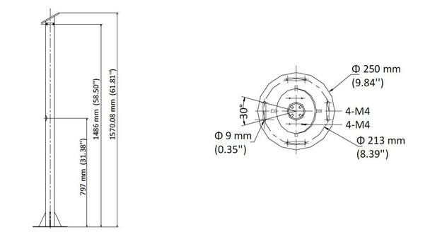 Hikvision PM-LPR Pole Mount for LPR Cameras