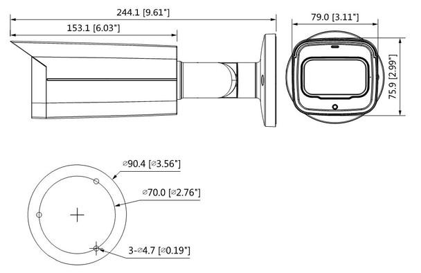 Dahua A22CFAZ 2MP IR Outdoor Bullet HD-CVI Security Camera with Starlight, 2.7~13.5mm Motorized Lens