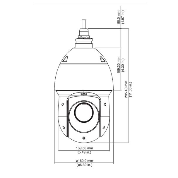 Dahua 49425XBNR 4MP IR H.265+ Outdoor PTZ IP Security Camera with 25x Optical Zoom, WizSense