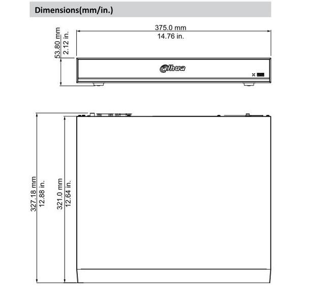 Dahua X82R2A 8 Channel 4K 1U Penta-brid HDCVI Digital Video Recorder