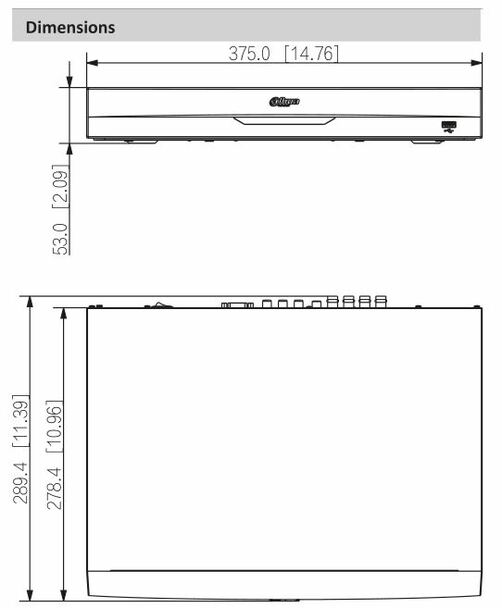 Dahua X82B2A 8 Channel 4K 1U Penta-brid HDCVI Digital Video Recorder