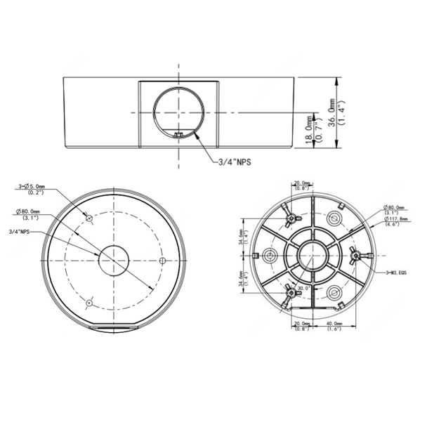LTS VSJB342 Fixed Turret Junction Box