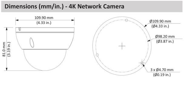 Dahua N588D63S 4K Starlight IP Security Camera System, 6 Camera, 8MP, Outdoor,  3TB Storage,  Night Vision