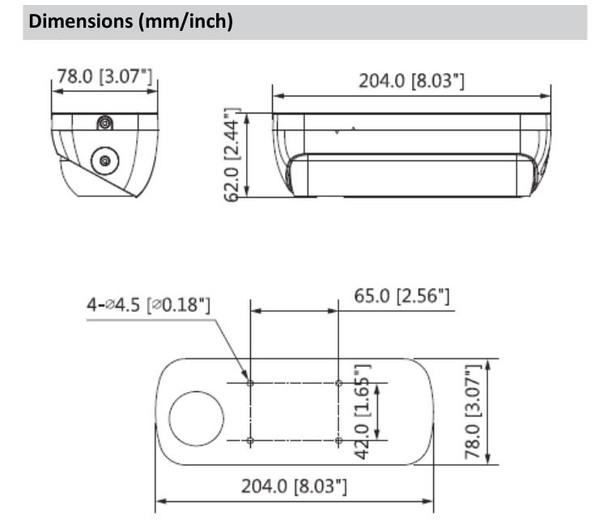 Dahua DH-IPC-HDW8341XN-3D-S2 3MP IR H.265+ People Counting Dual Sensor IP Security Camera