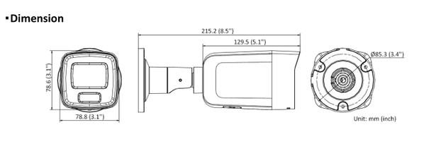 Hikvision DS-2CD2087G2-L 4MM 8MP 4K IR H.265 ColorVu Outdoor Bullet IP Security Camera