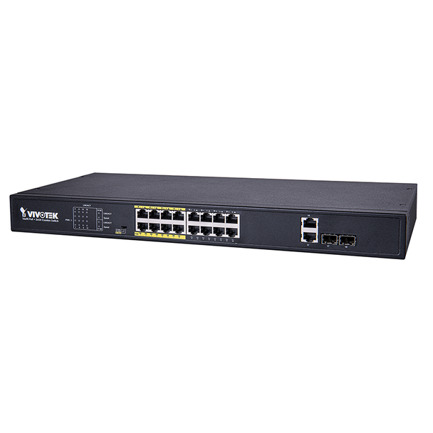 Vivotek AW-FGT-180D-250 16 Port Unmanaged PoE 2xGE Combo Switch