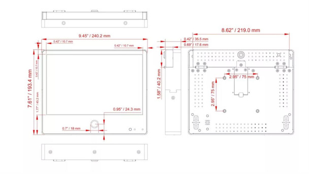 ViewZ VZ-PVM-I1W4N 10.1-inch IP Public View Monitor with 2.1MP Camera