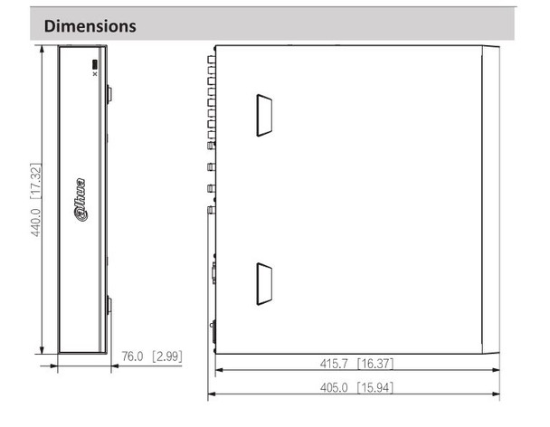 Dahua X84R3L4 16 Channel 4K Penta-Brid HD-CVI Digital Video Recorder with 4TB HDD included and WizSense