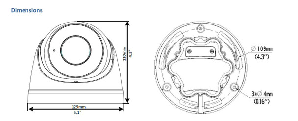Geovision GV-EBD4712 4MP IR H.265 Outdoor Eyeball IP Security Camera with 4x Motorized Lens, WDR Pro