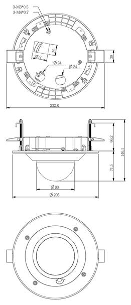 Vivotek AM-105_V03 Recessed Kit for Indoor Dome Cameras