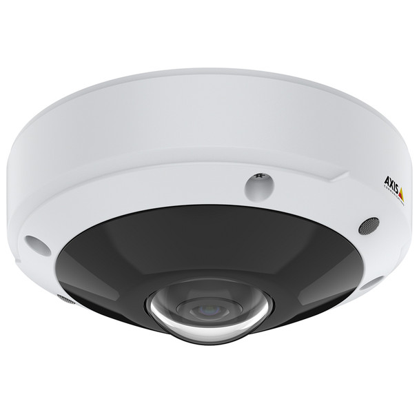 AXIS M3077-PLVE 6MP Outdoor Fisheye IP Security Camera with 360-degree panoramic view and audio capture - 02018-001