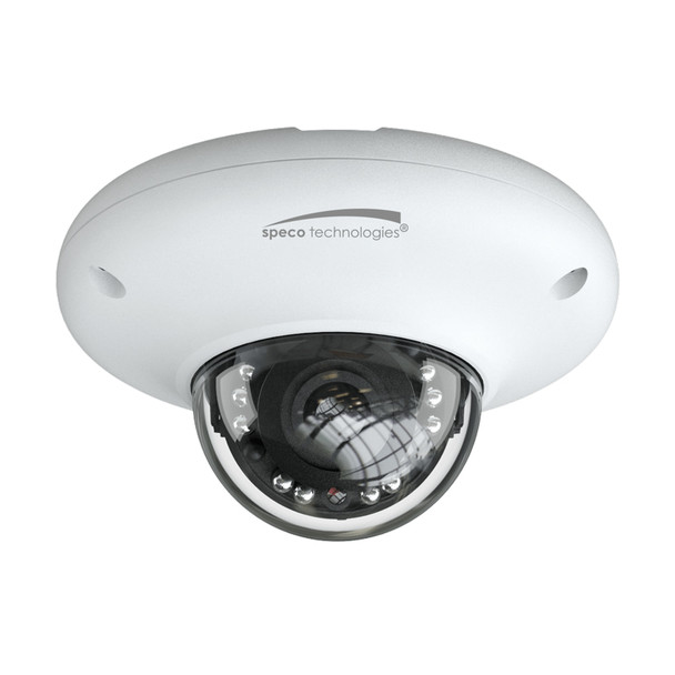 Speco O4P4 4MP IR H.265 Outdoor Mini Dome IP Security Camera with Advanced Analytics