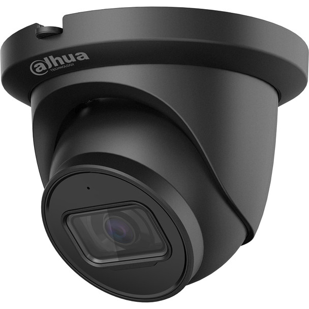 Dahua N43AJ52-B 4MP Night Vision Outdoor Turret IP Security Camera with 2.8mm Fixed Lens, Smart H.265+, Built-in Microphone