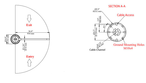Bi-directional Motorized Swing Gate with Glass Gate