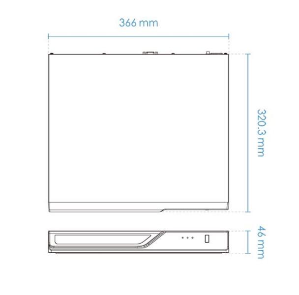 Vivotek ND9323P 8-channel Network Video Recorder, Embedded PoE, H.265, No HDD