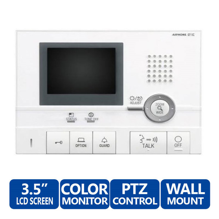 Aiphone GT-1C Master Monitor Station - GT Series Multi-Tenant Color Video Entry Security System (White)