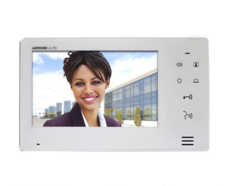Aiphone JO-1FD Hands-Free Color Video Intercom Expansion Monitor Station - JO Series Video Intercom System (White)
