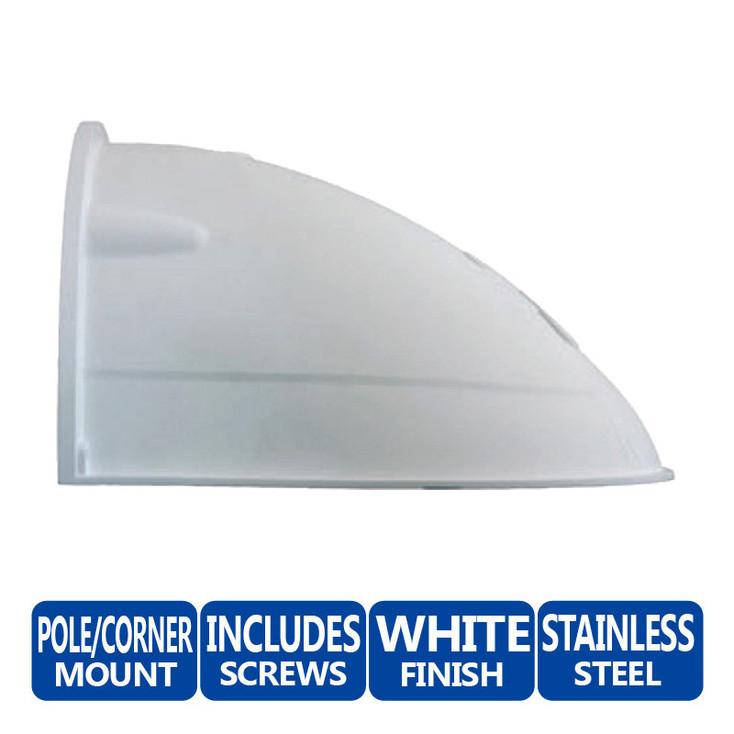 Mobotix MX-WH-DOME Wall Mount - D1x Series, Weatherproof, Shock-resistant fiberglass-reinforced plastic