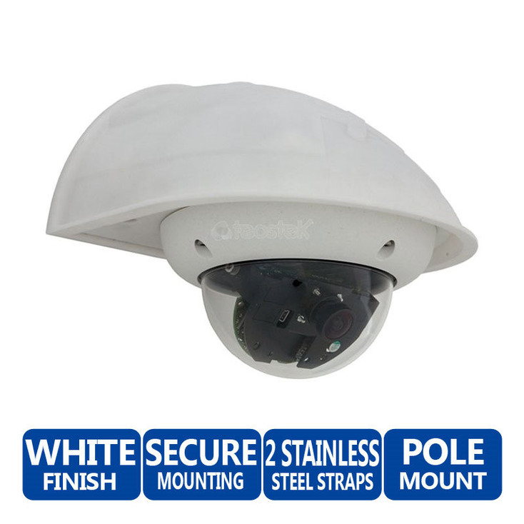Mobotix MX-OPT-WH Outdoor Wall Mount - Dome Security Camera (White)
