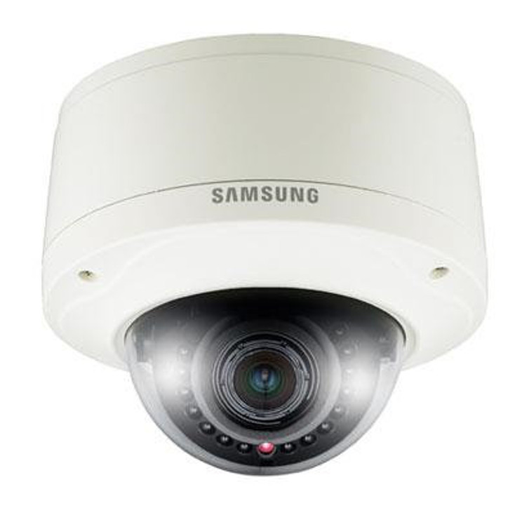 Samsung SNV-7080R 3MP IR Outdoor Dome IP Security Camera - Built-In Heater