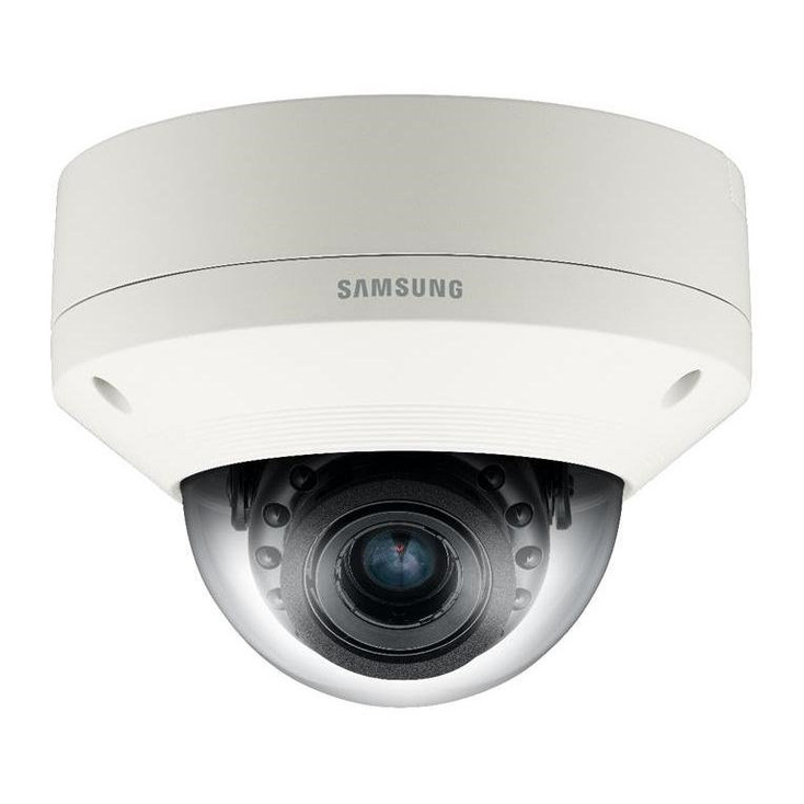 Samsung SNV-7084R 3MP IR Outdoor Dome IP Security Camera - 3~8.5mm Motorized Lens
