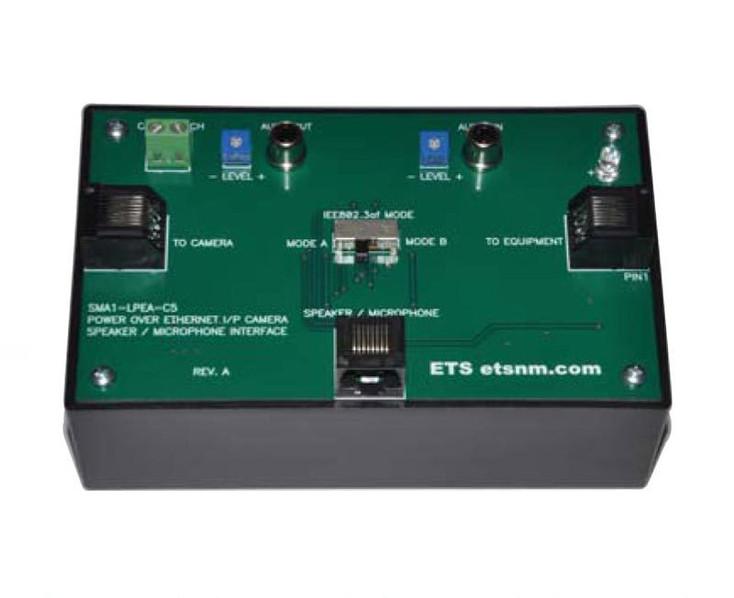 ETS SMA1-LPEA-C5 Power over Ethernet IP Camera 2-Way Audio Interface Box - CAT5 Input