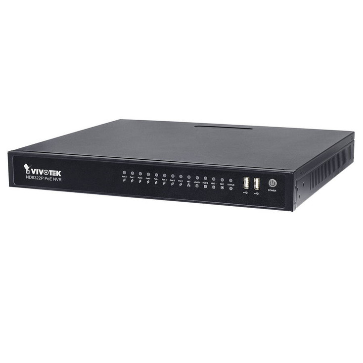 Vivotek ND8322P-3TB 8 Channel Network Video Recorder - 3TB HDD included