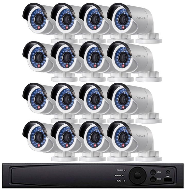 Bullet IP Security Camera System, 16 Camera, Outdoor, Full HD 1080p, 4TB Storage, Night Vision, LTN8716-B2W