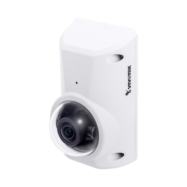Vivotek CC8370-HV 3MP Indoor/Outdoor Anti-Ligature Fisheye IP Security Camera - 1.6mm Fixed Lens, WDR Pro & SNV