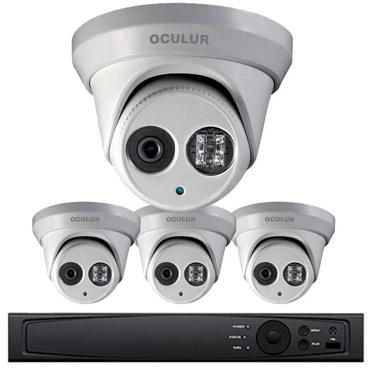 Turret IP Security Camera System, 4 Camera, Outdoor, 4MP Full HD, 1TB Storage, Night Vision, LTN8704-D4WM