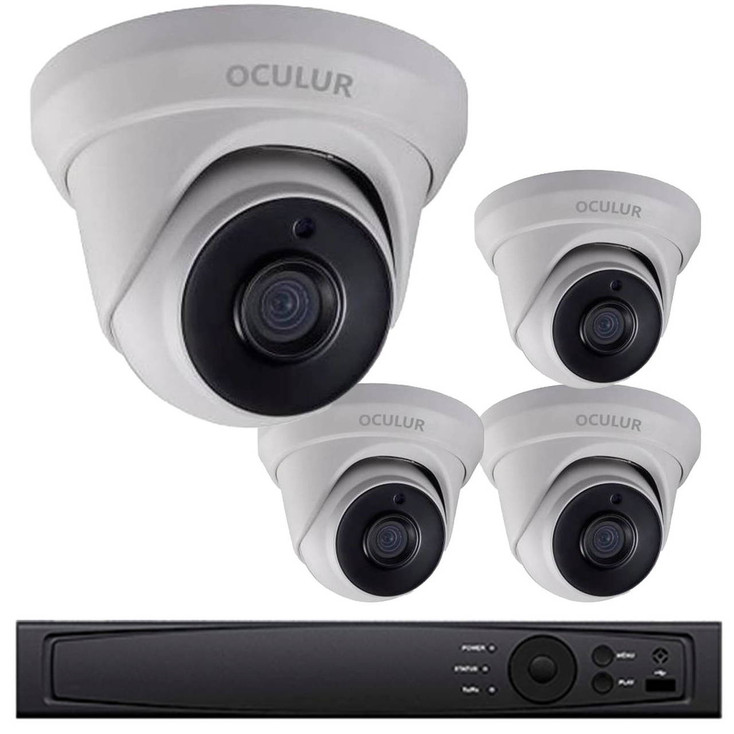 Turret CCTV Analog Security Camera System, 4 Camera, Outdoor, Full HD 1080p, 1TB Storage, Night Vision, LTD8304-D2M