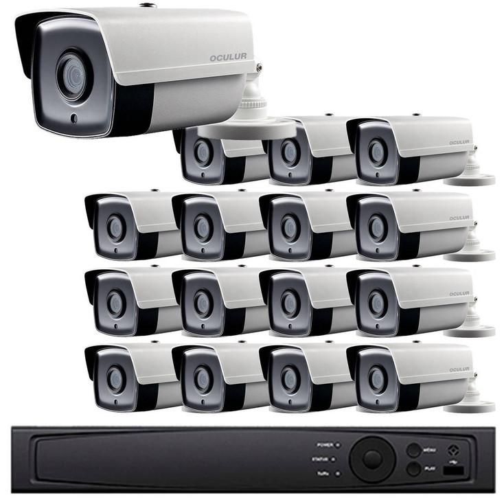 Bullet CCTV Analog Security Camera System, 16 Camera, Outdoor, Full HD 1080p, 3TB Storage, Night Vision, LTD8316-B2W
