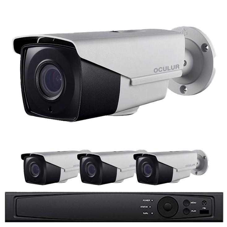 Oculur Security 4-Camera HD CCTV Bullet Security Camera System