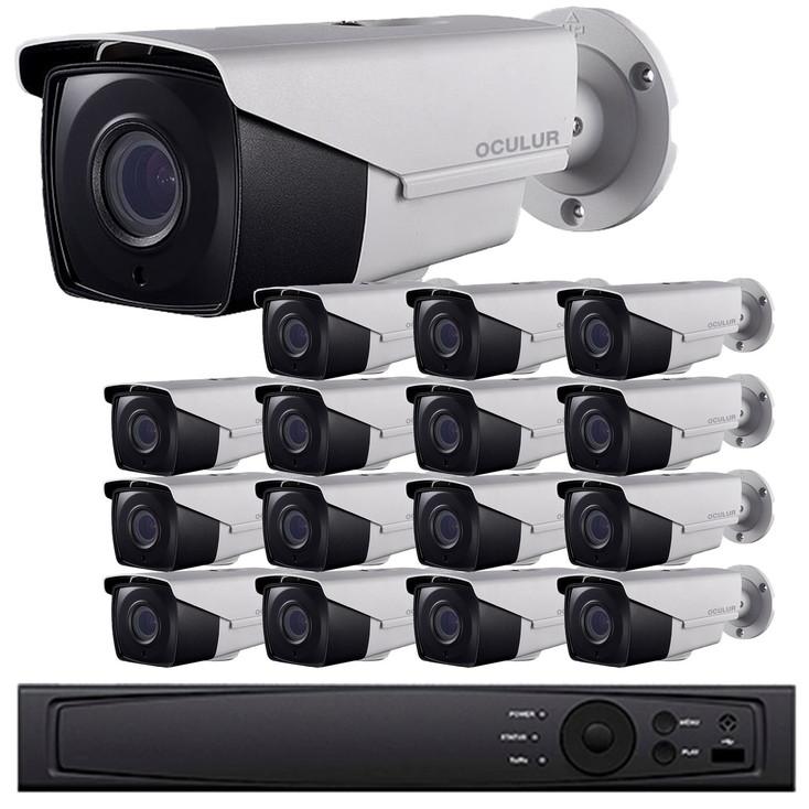 Bullet CCTV Analog Security Camera System, 16 Camera, Outdoor, Full HD 1080p, 3TB Storage, Night Vision, LTD8316-B2V