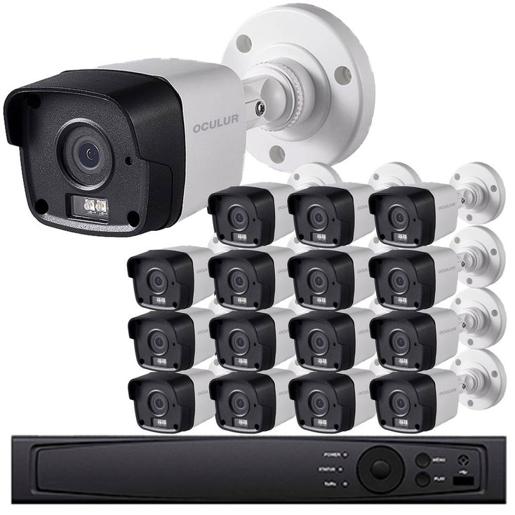 Bullet CCTV Analog Security Camera System, 16 Camera, Outdoor, Full HD 1080p, 3TB Storage, Night Vision, LTD08162RK-3TB
